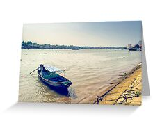Tourist boat Greeting Card