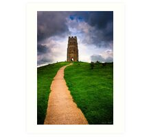St Michael's Tower Atop Historic Glastonbury tor Art Print