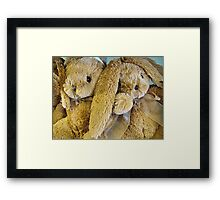 Bunny Buddies Framed Print