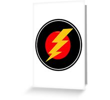 Awesome Lightning Bolt - Cool Case phone and laptop Greeting Card