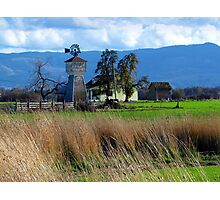 Willamette Valley Old Farm Windmill  Photographic Print