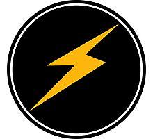 Lightning BOLT - Round amp music Photographic Print