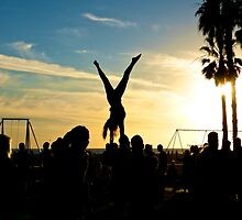 Acrobats Under a Setting Sun by sbackman