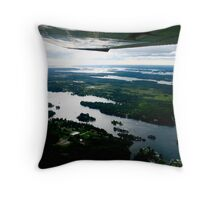 The Thousand Islands, A Plane-Eye View Throw Pillow