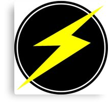 Awesome Lightning Bolt - Circle  Canvas Print