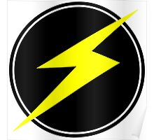 Awesome Lightning Bolt - Circle  Poster