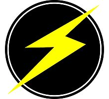 Awesome Lightning Bolt - Circle  Photographic Print