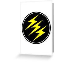 3 Lightning Bolt Superhero Greeting Card