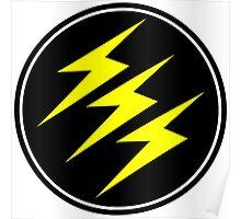 3 Lightning Bolt Superhero Poster