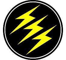 3 Lightning Bolt Superhero Photographic Print
