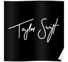 Taylor Swift White Poster