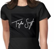 Taylor Swift White Womens Fitted T-Shirt