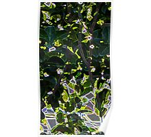 Neon leaves Poster