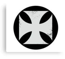 Round Cross Canvas Print