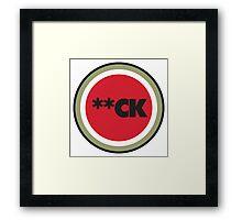 **CK - Parody Framed Print