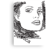 Jolie and helvetica Canvas Print