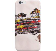 Gyotaku fish rubbing, Florida Redfish, Surreal color iPhone Case/Skin