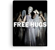 Free Hugs by an Angel Canvas Print