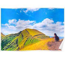 Contemplating Masaya - Ancient Volcanic Ridge Poster