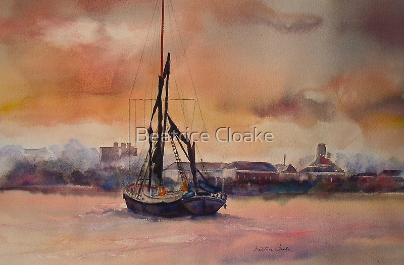 At rest on the Thames by Beatrice Cloake Pasquier