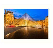 Unforgettable Louvre Courtyard Art Print