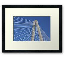 Ravenel Bridge Abstract Framed Print