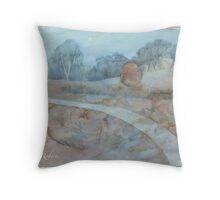 Egg Moon Mountain Throw Pillow