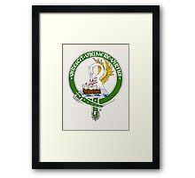Clan Stewart Scottish Crest Framed Print