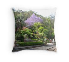 Spring Bluff featuring a beautifully flowering Jacaranda tree. Qld. Australia Throw Pillow