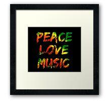 Peace Love Music Framed Print