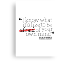 Dr. Spencer Reid's Quote Metal Print