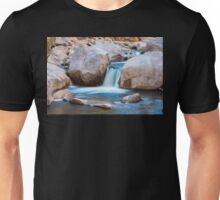 Rocky Mountain Canyon Waterfall Unisex T-Shirt