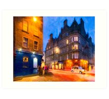 Standing At The World's End In Edinburgh Art Print