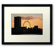 Sunset over London Eye  Framed Print