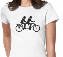 Tandem bike Womens Fitted T-Shirt