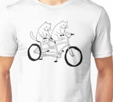 Cats on a Bike Unisex T-Shirt