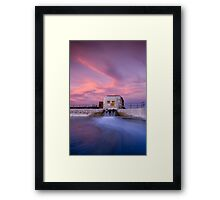 Down In The Corner Framed Print