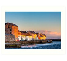 Galway Waterfront at Sunset Art Print