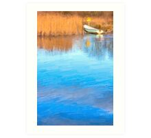 Little Boat on the Banks of the Corrib in Galway Art Print