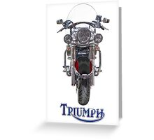 Triumph Thunderbird LT Red Greeting Card
