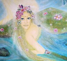 Lady of the lake - close up by Lilaviolet