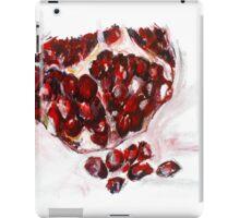 Pomegranate acrylics 11 inch x 14 inch canvas board iPad Case/Skin