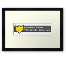 Achievement Unlocked! Earned a Rodimus Star! Framed Print