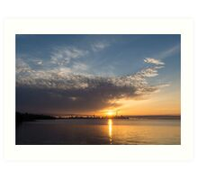 Brilliant Toronto Skyline Sunrise Over Lake Ontario Art Print