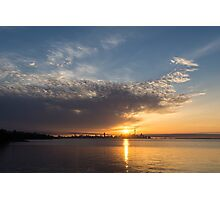 Brilliant Toronto Skyline Sunrise Over Lake Ontario Photographic Print