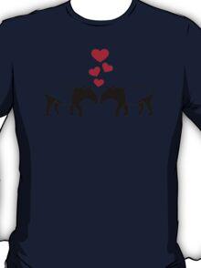 Tapir red hearts love T-Shirt