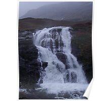 Glencoe waterfall Poster