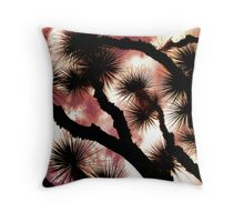 Botanical Sunset Throw Pillow