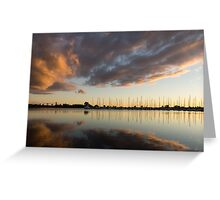 Boats and Clouds Summer Sunset Greeting Card