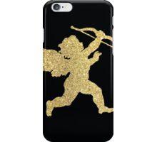 A golden glittery cupid/cherub iPhone Case/Skin